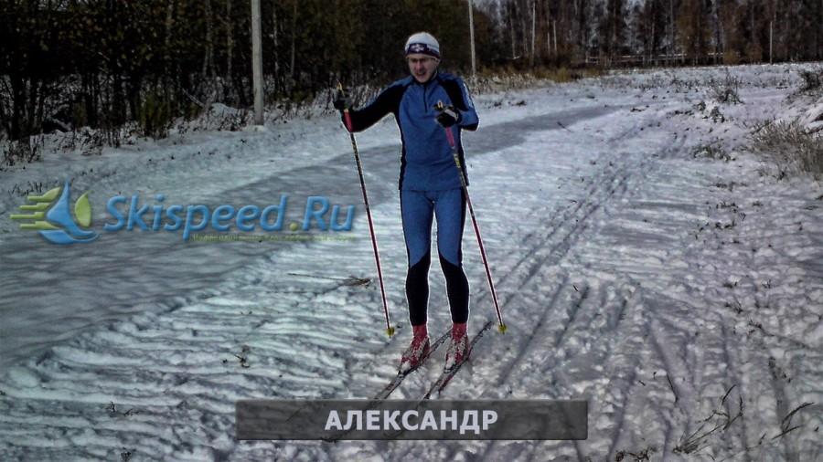 Тренировка на лыжах 19 октября в Норском