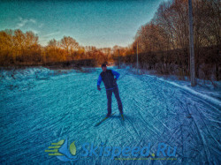 Тренировка на лыжах в Норском 23.10.2014