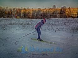 Фотография Оксаны Мордановой. Тренировка на лыжах в Норском 23 октября 2014