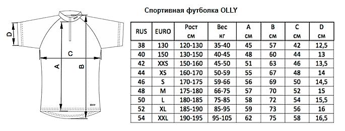 Размеры одежды унисекс таблица