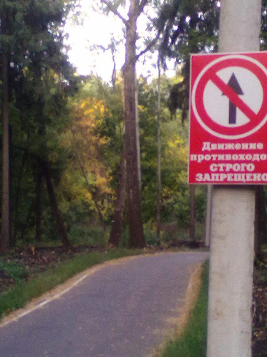 3Новомосковская лыжероллерная трасса Знак
