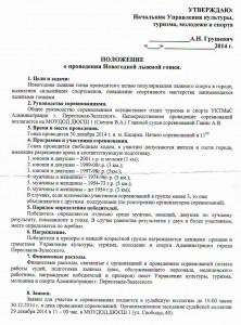 Положение Новогодней гонки-2015 в Переславле-Залесском