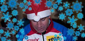Фото - Спортивный Дед Мороз лыжник
