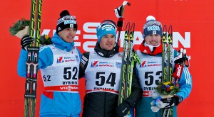 Фото - победители мужской лыжной гонки свободным стилем на ЭКМ 2015 в Демино