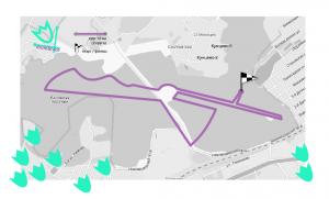 Схема беговой дистанции Весеннего грома на 10 км.