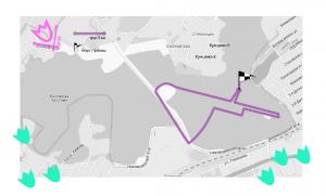 Схема беговой дистанции Весеннего грома на 5 км.