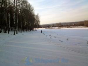 Фото - лыжная трасса в марте 2015. Подолино, Ярославский район