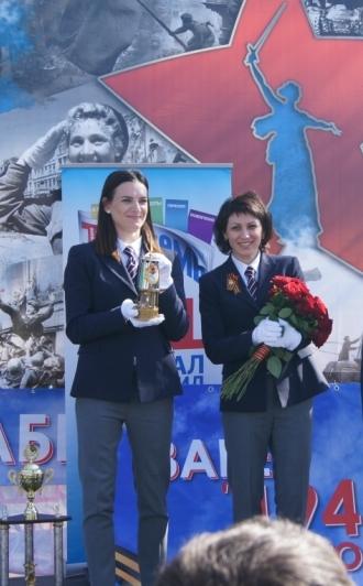 Исинбаева и Лебедева - Волгоградский международный марафон Победа 2015