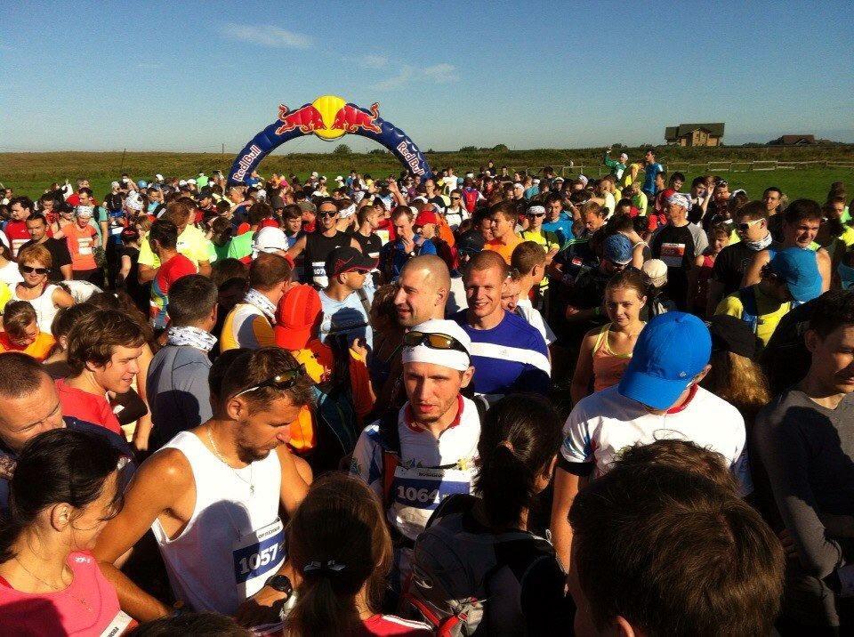 Общее фото перед стартом марафона