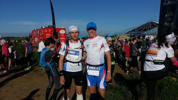Перед стартом бегового марафона в Суздале