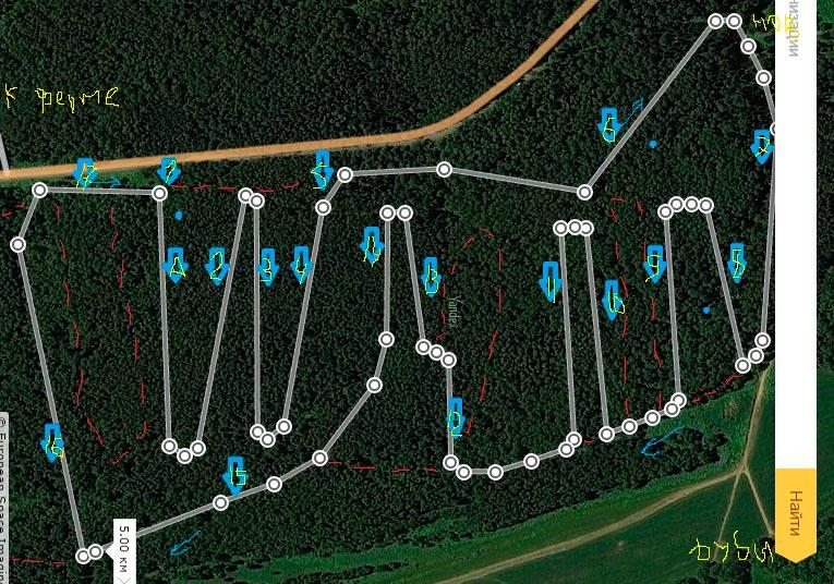 Фото - Схема трассы в михайловском лесу Ярославского района, для тренировок