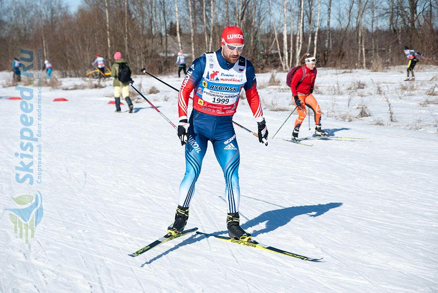 Фото - Алексей Петухов на Дёминском лыжном марафоне 2016