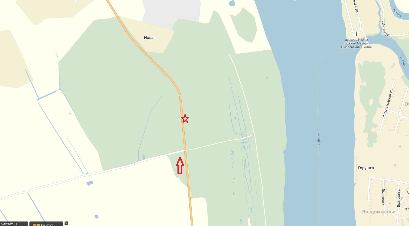 Красной стрелкой показана дорога Норское - Михайловское Звездочка - место встречи изменить нельзя.