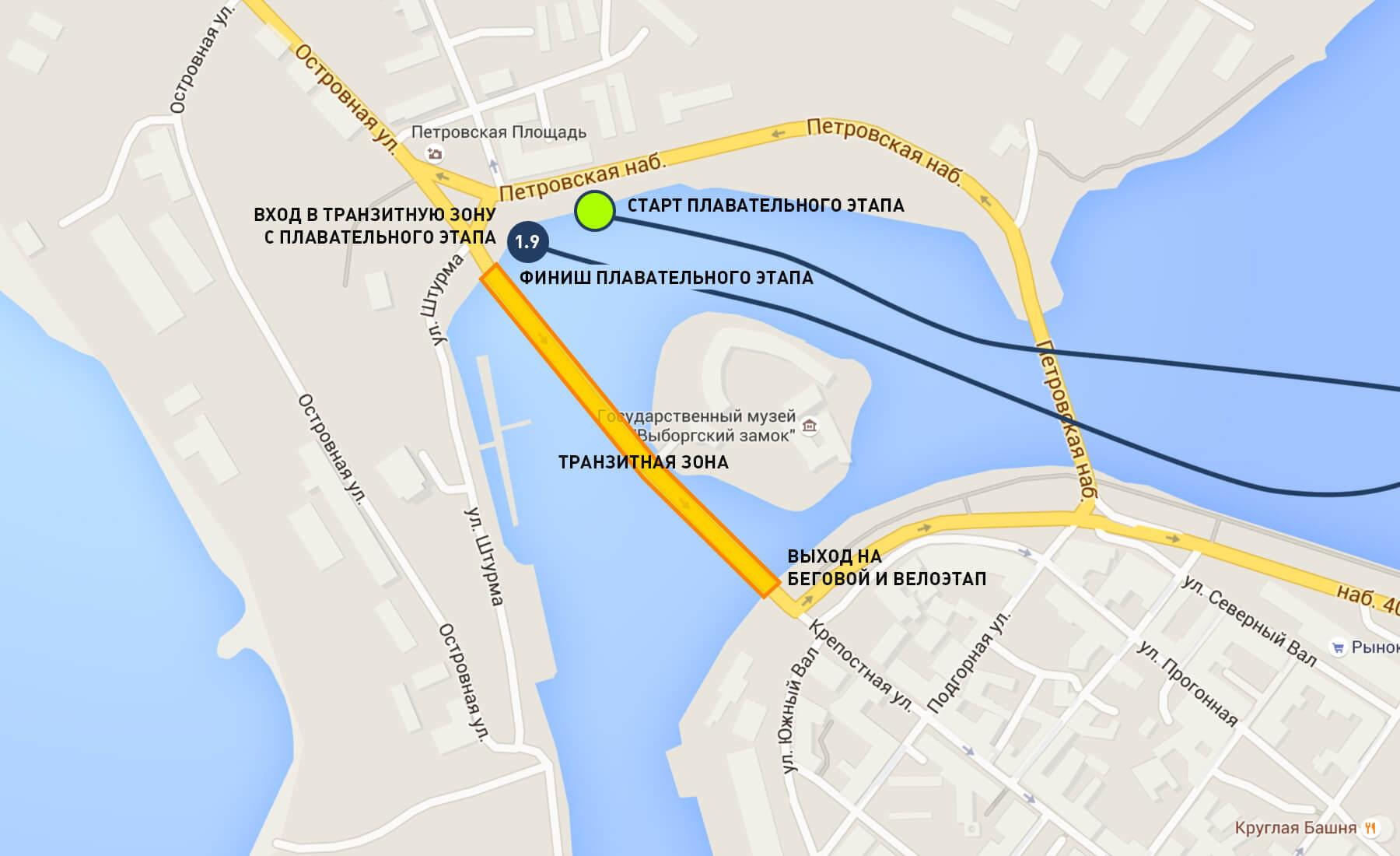 Карта-схема - Транзитная зона. Выборгмэн 2016
