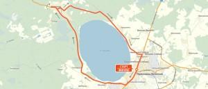 Карта-схема на 42,2 км. - Переславский марафон 2016