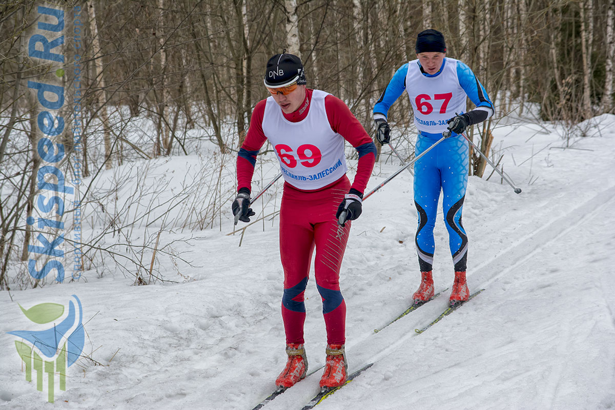 Фото лыжников Ярославской области - Черезов Максим и Андрей Бабичев, Переславль-Залесский