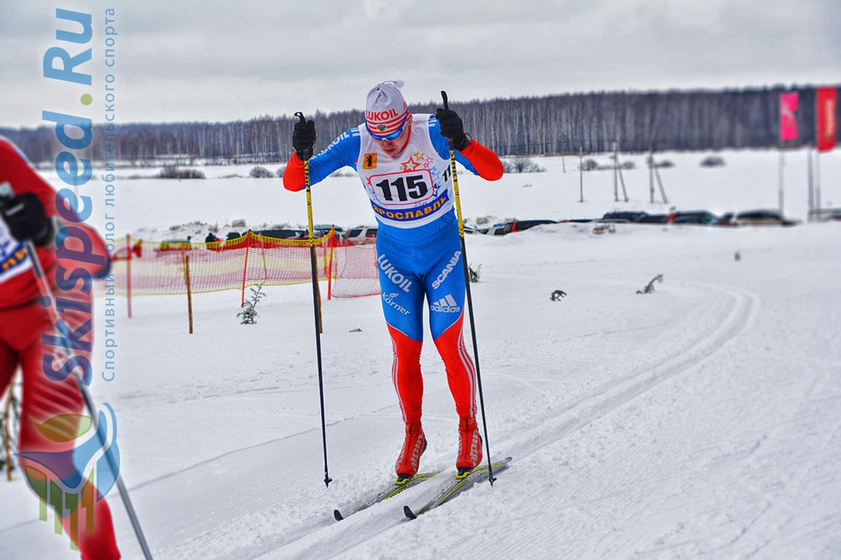 Фото лыжника на лыжне - Хабаров Никита, Рыбинск