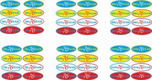 Фото - Логотипы SKI 76 TEAM для циклических видов спорта