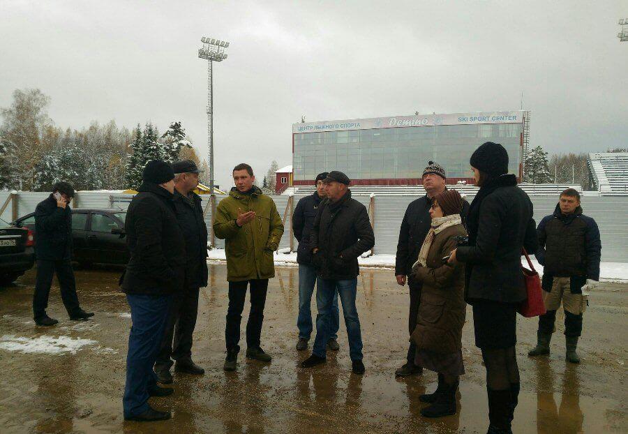 Фото представителей минспорта - Строительстве биатлонного стрельбища в Демино, Рыбинск