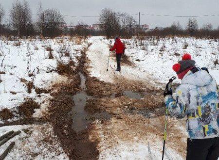 Фото мест для тренировок - Вандалы на лыжной трассе в Тутаеве