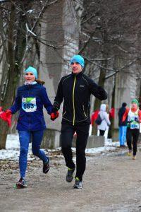Фото спортсменов любителей - Беговой марафон Дорога жизни 2018. Антон Муравьёв и Анна, Санкт-Петербург