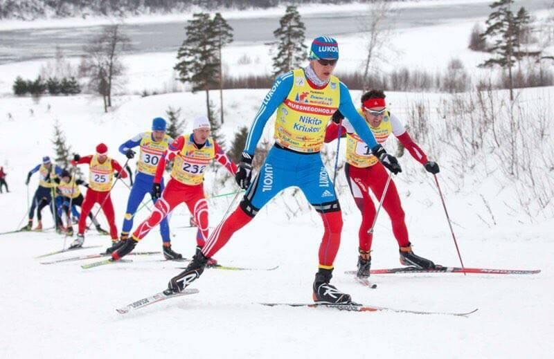 Фото лыжника - Никита Крюков на Деминском лыжном марафоне 2018