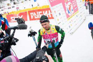 Фото лыжника - Сергей Турышев на Деминском лыжном марафоне 2018