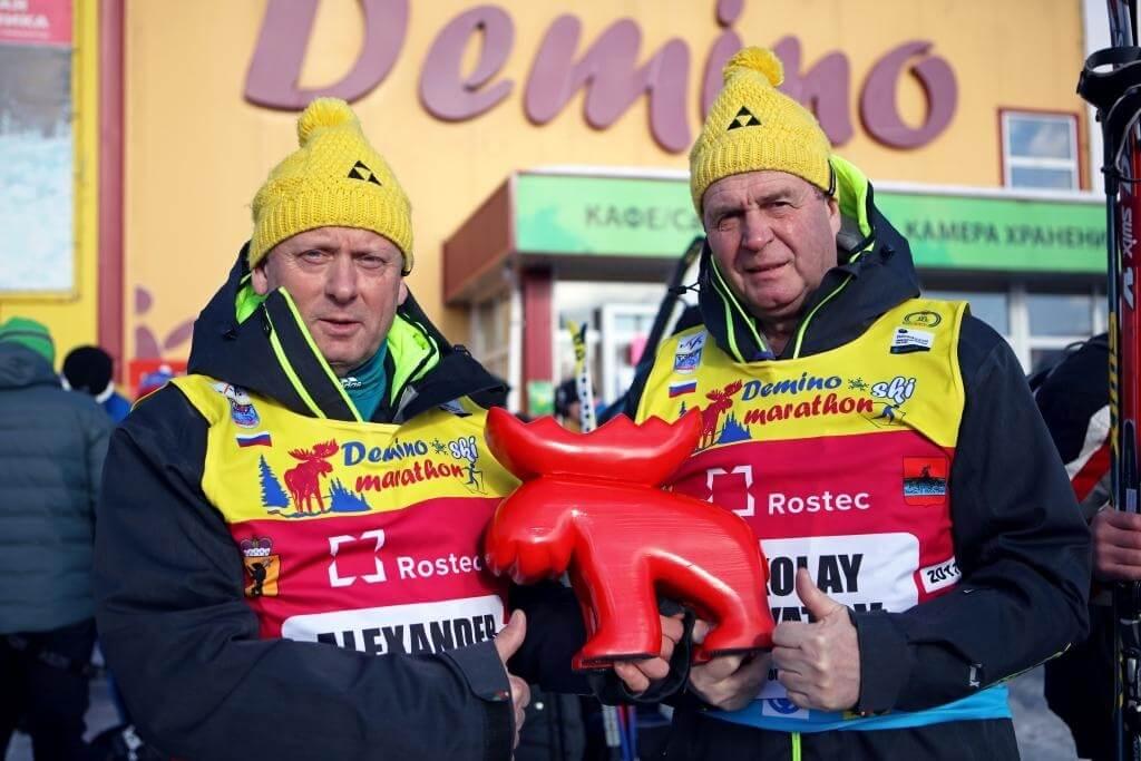 Фото - Николай Зимятов, Александр Завьялов на Деминском лыжном марафоне 2018