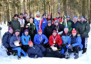 Фото группы лыжников - Лыжным гонкам памяти Р.В. Крупина 2018