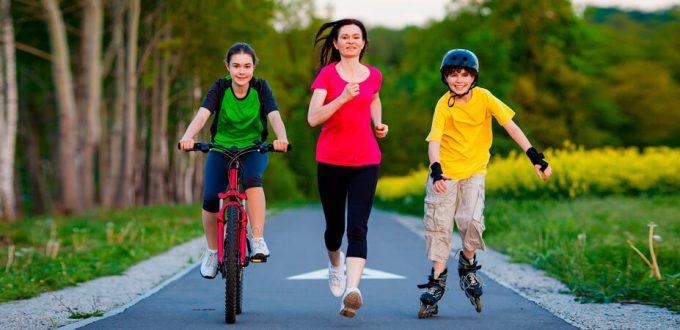 Фото совместных тренировок бег ролики велосипед - Ваши тренировки с мая по август 2018
