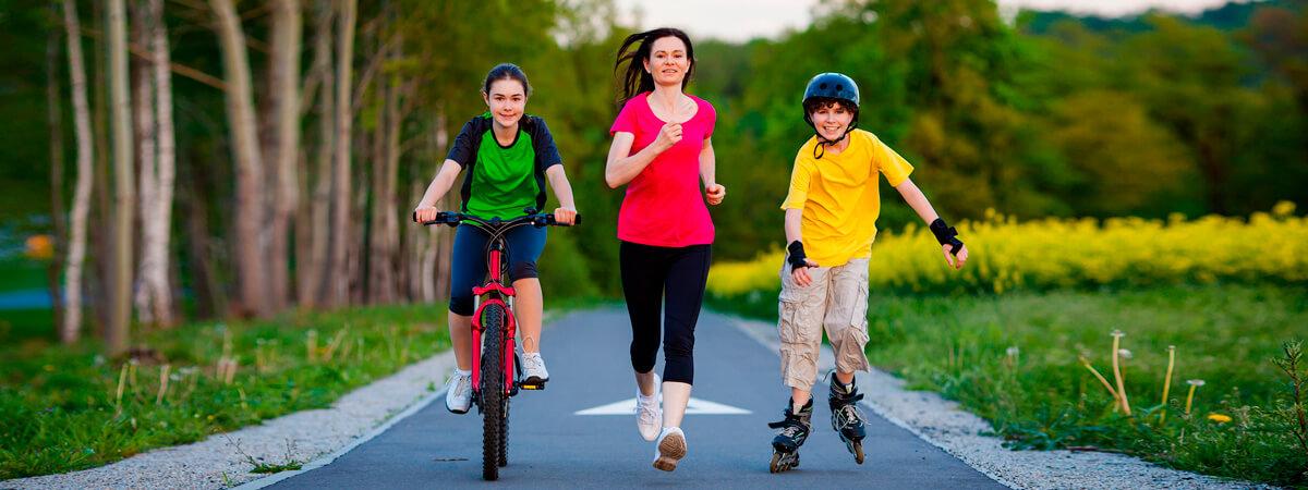 Фото совместных тренировок бег ролики велосипед - Ваши тренировки с мая по октябрь 2019