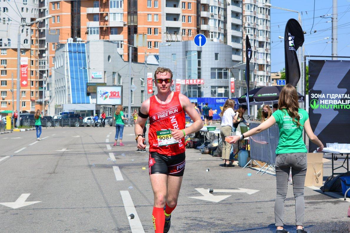 Спортсмен из Ярославского региона на Харьковском марафоне 2018