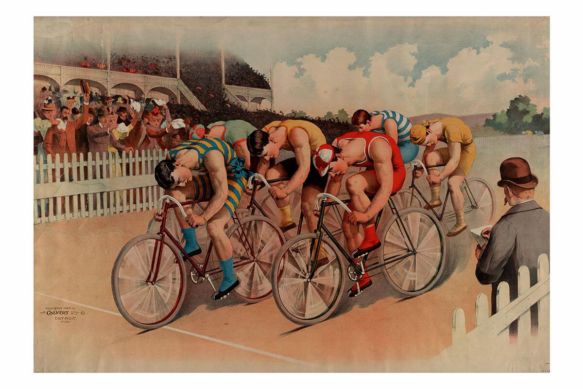 Фото велогонщиков - Занимайтесь спортом. Плакаты СССР