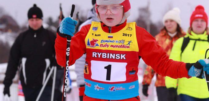Фото ребенка на лыжне - Дёминский лыжный Baby-марафон 2019
