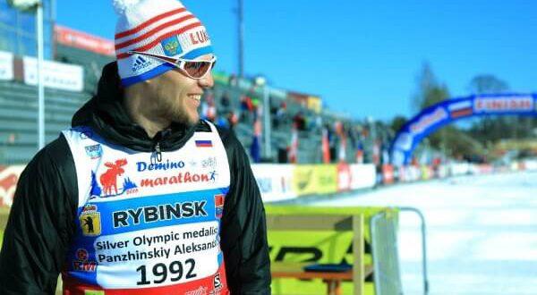 Фото призёра олимпийских игр - Александр Панжинский в Дёминском лыжном марафоне 2019