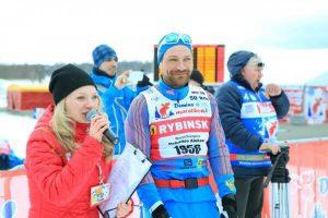 Фото олимпийского чемпиона - Петухов Алексей в Дёминском лыжном марафоне 2019