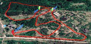 Фото карты - Лыжная трасса тренировок в Заволжском районе Ярославля