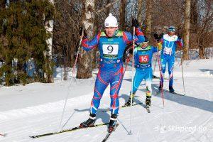 Фото лыжника - Жаровский Алексей. Лыжный марафон ВыZов 75к 2019