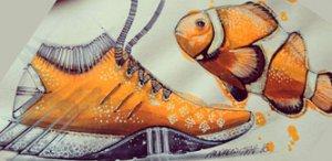 Фото - Кроссовки. Дизайн. Рыба