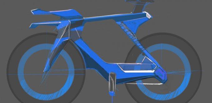 Фото картинки - Макет (синий) велосипеда SPECIALIZED по дизайну PARADOX
