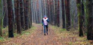 Фото бегущего спортсмена. Красный кустарь. Бег. Осень