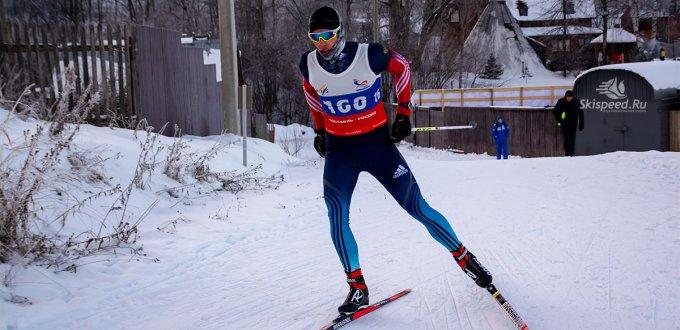 Фото лыжника. Лыжные гонки. Ярославль