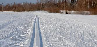 Фото. Лыжная трасса в Демино. Деминский марафон 2020