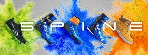 Обои Spine (Спайн). Лыжные ботинки. Трекинговая обувь. Велотуфли. Дизайн