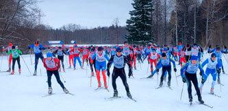 Фото. Чемпионат Карабихского сельского поселения по лыжным гонкам 2021. Масстарт