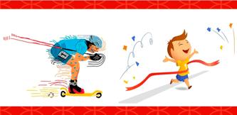 Чемпионат и первенство Рыбинска по лыжероллерам и кроссу. Фото нарисованной картинки