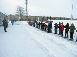Фото юных лыжников на ст. Металлист (Рыбинск)