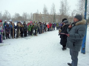 Фото юных лыжников на ст. Переборец (Рыбинск)